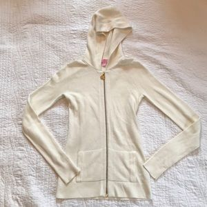 Lilly Pulitzer Zip Up Sweater Hoodie
